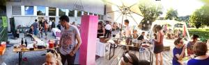 Tankstelle und Kochkollektiv in der Poolbar / Teller statt Tonne